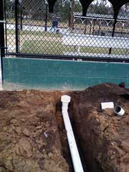 Installing Drainage System